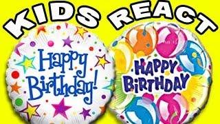 vuclip KIDS REACT: HAPPY BIRTHDAY!