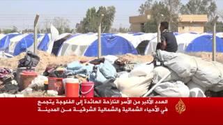 القوات العراقية تسمح بعودة نازحين إلى الفلوجة