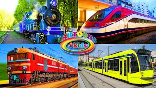 Поезда для детей все серии подряд. Cборник про поезда, цвета и вагоны метро для малышей