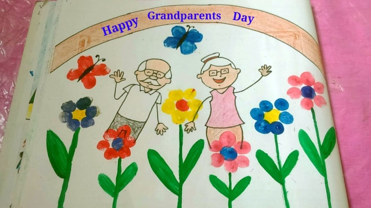 Grandparents Day Drawing For Kids How To Draw Grandparents Drawing
