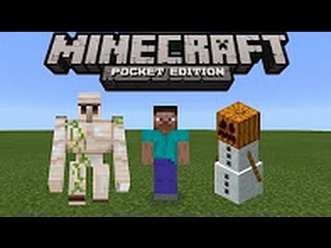 Minecraft Pe How To Make Iron Golems Ice Man