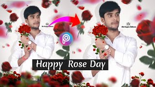 Rose Day Special Editing In PicsArt | Valentine Day Photo Editing | #YoutubrShort #ShortVideo