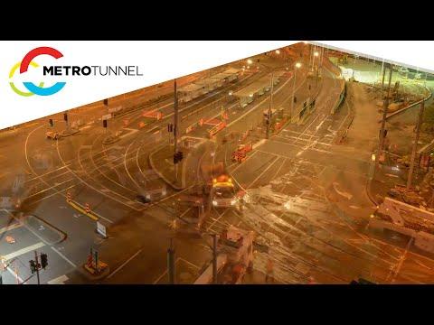 Metro Tunnel - St Kilda Rd April 2018 works timelapse