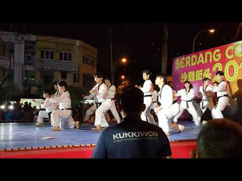 Kukkiwon performance at Serdang countdown 2018