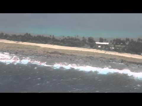 Tuvalu Atterrissage Funafuti Fiji airways / Tuvalu Funafuti Landing Fiji airways