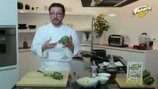 Gnocchi Ripieni Con Gorgonzola Patarò, Chips Di Carciofi E Mandorle