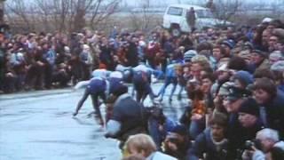 Elfstedentocht 13e 1985 winnaar Evert van Benthem