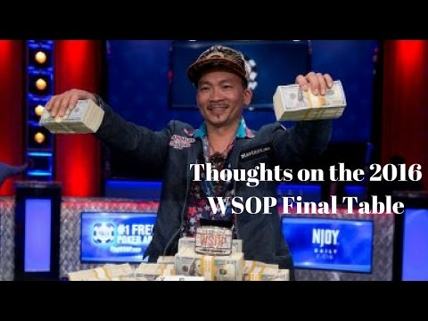 2016 World Series of Poker Final Table Review - 동영상
