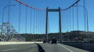 Carquinez Alfred Zampa Westbound Bridge Vallejo California POV Travel 8-28-13