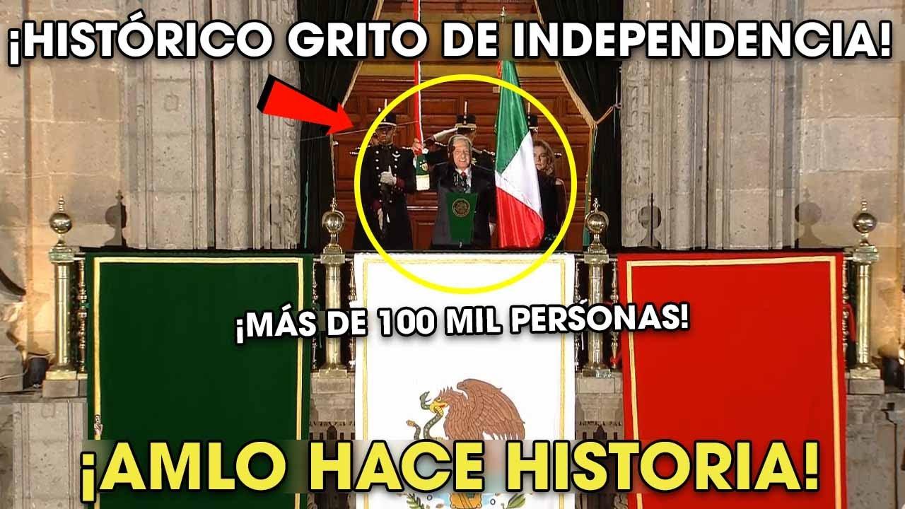 AMLO Da Histórico Grito de Independencia 15 de Septiembre ¡Sin ACARREAD0S!