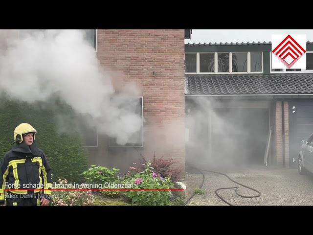 Forse schade na woningbrand in Oldenzaal