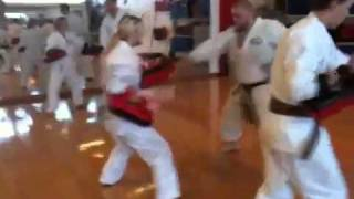 "Mobile: Original Karatebyjesse ""hamahiga No Tonfa 2-person Thai Pad Flow Drill"""