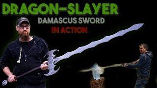 Drachen-Schwert aus Damaszenerstahl: RIESIGES Fantasy Schwert schmieden