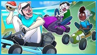 MARIO KART 8 FUNNY MOMENTS! - BLUE SHELL RAGE, HELMETMAN, AND BULLET BILLS EVERYWHERE!