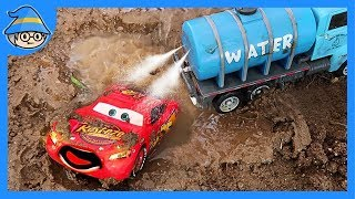 Rescue Disney cars. A car toy pretend play for children.