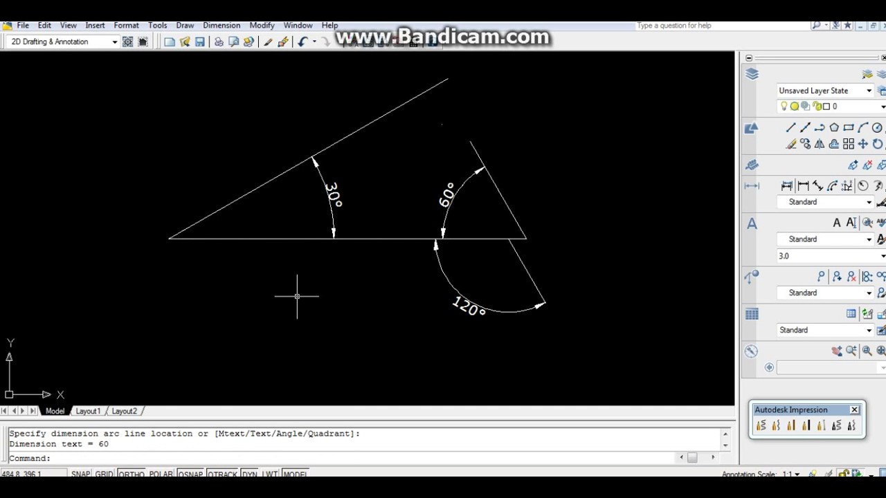 How To Use A Line Command In Autocad Engineering Graphics Youtube