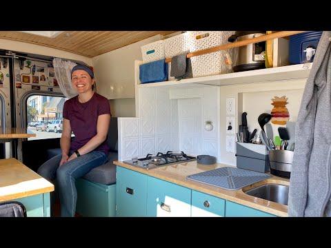 VAN LIFE | GENIUS DIY Homemade Campervan - Ford Transit Conversion