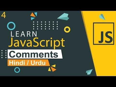 JavaScript Comments Tutorial in Hindi / Urdu