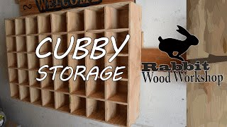 Simple to build cubby storage. Build a cubby storage to use for just about anything. doesn