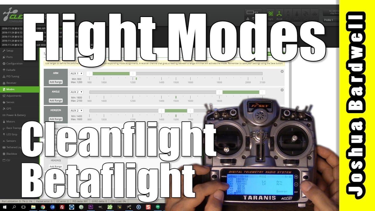 Cleanflight / Betaflight Flight Modes   HOW TO SET UP