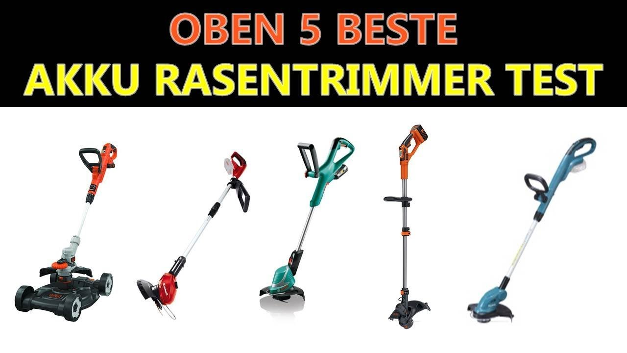beste akku rasentrimmer test 2018 - youtube