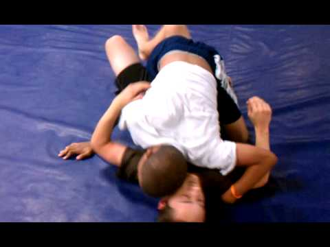 Male teen submission wrestling