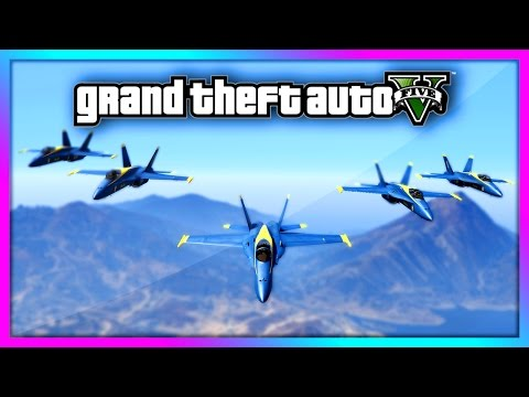 GTA 5 - Blue Angels FORMATION FLIGHT Gameplay! - Dual Mod Showcase! (GTA V)