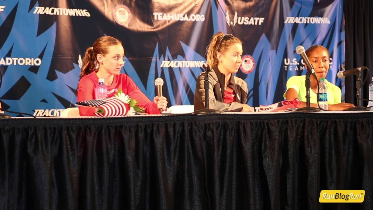 Women's 10k Press Conference @ 2016 USA Olympic Trials