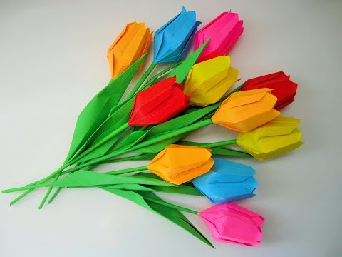 DIY:  tulips / Tulpen. Origami