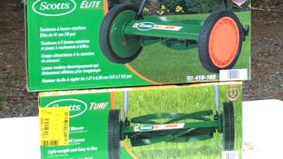 Scotts 14 TURF & 16 ELITE PUSH REEL MOWER Perfect For Young Adults