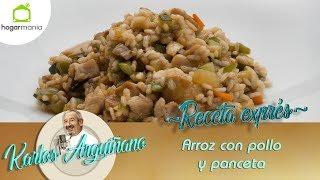 Receta de Arroz con pollo y panceta por Karlos Arguiñano