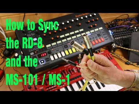 How to sync a Behringer RD-8 and MS-101/ MS-1 (updated)