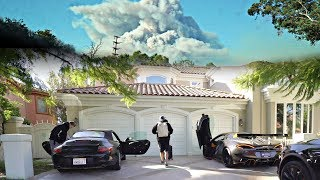 FaZe House California WILD FIRE EVACUATION!