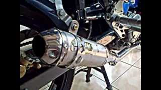 Yamaha Jupiter MX 2012 Test Sound with AHM exhaust