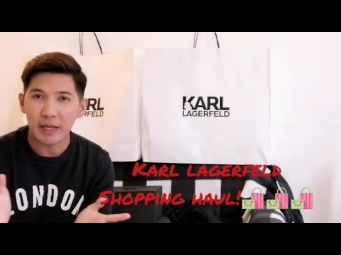 Karl Lagerfeld Shopping Haul