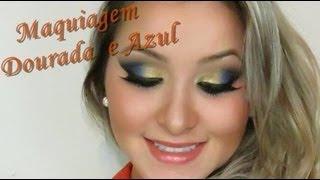 Maquiagem Dourada e Azul inspirada na Lu ferraes ჱܓ ~ Extravaganza por Van Almeida