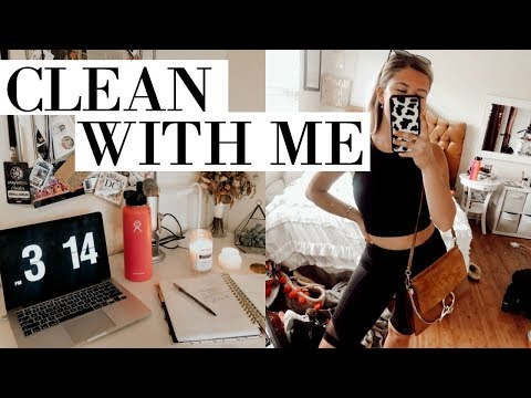 VLOG: clean + organize with me, clothing haul, work out, & catch up!