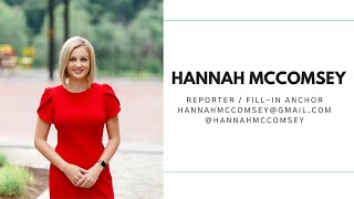 HANNAH MCCOMSEY ANCHOR REEL - JULY 2020