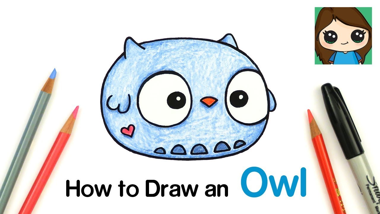 How to Draw a Baby Owl   Anirollz
