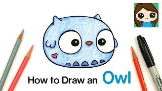 How to Draw a Baby Owl | Anirollz