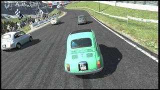 "Gran Turismo 5 - ""Death Race"" - Fiat 500 vs. Eiger Nordwand Short Track - Replay"