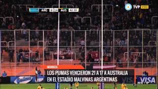 Los Pumas vencieron 21 a 17 a Australia en el Malvinas Argentinas
