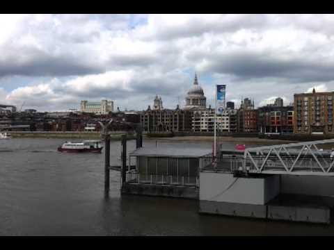 Londres 2012 Globe Theatre y vista Tamesis