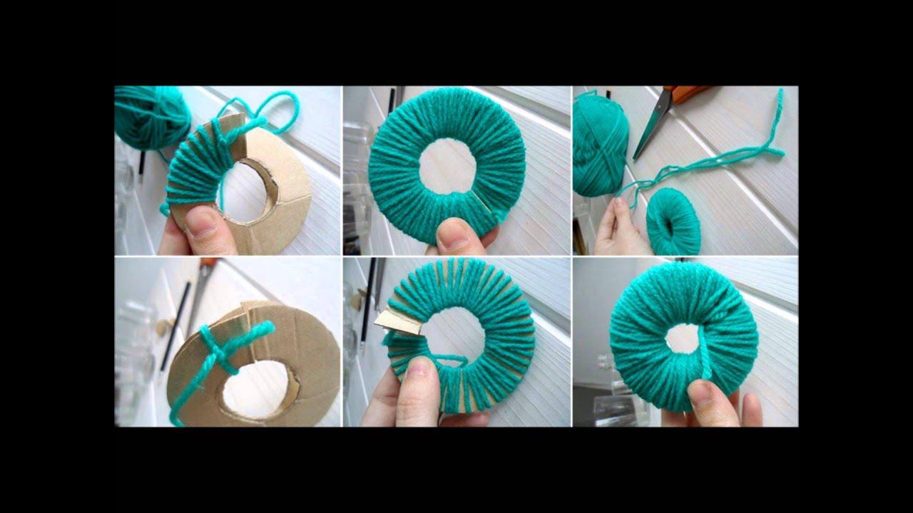 Pompones de lana tutorial youtube - Como hacer pompones de lana rapido ...