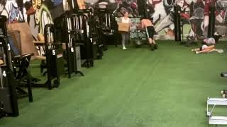 Sled workout at Hyperswole Gym