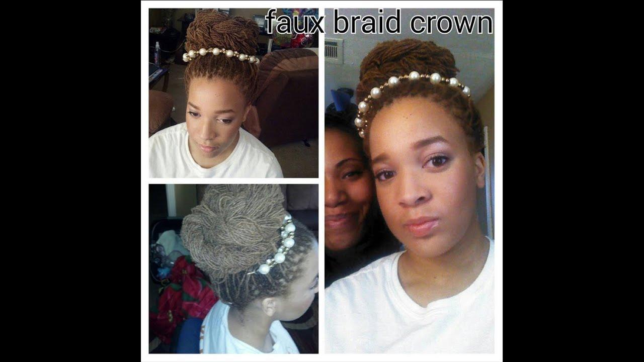 Faux Braid Crown For Sisterlocks And Locs Elegant Updo For