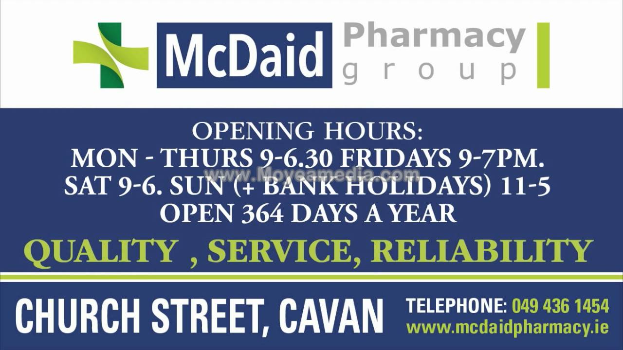 McDaid Pharmacy - YouTube c8e496fa6fc6