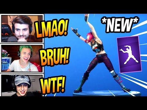 "STREAMERS REACT TO *NEW* ""DANCE THERAPY"" EMOTE/DANCE! *EPIC* Fortnite FUNNY & SAVAGE Moments"
