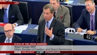 Nigel Farage tells Juncker You\'ve learned nothing!