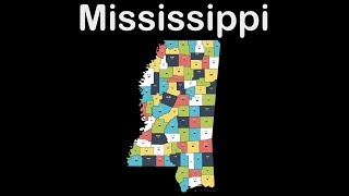 Mississippi Geography/mississippi State/mississippi Counties